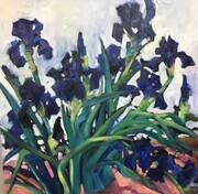 Black Iris (Van Gogh Series)