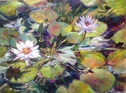 Pond Rhythms acrylic 40x30