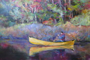 Autumn Paddle, Acrylic, 24x36  SOLD