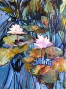 Lotus Pond Reflections #1 Acrylic on panel 18x24