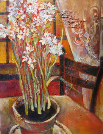 Paperwhites & Lace 18x24 SOLD