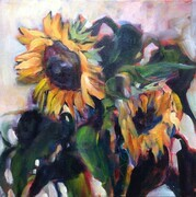 Sunflower Duo Acrylic 12x12 2