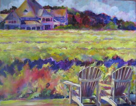 Vineyard Vista: Peller Estates, Acrylic, 24x30